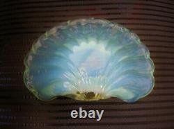 Heavenly Murano Mind Blowing Opalescent Bol En Verre Shell Sculpture Couleurs Changement