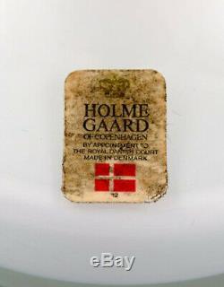 Kastrup / Holmegaard. Rare Lampe De Table Bowler En Verre Opalin Blanc Et Rouge