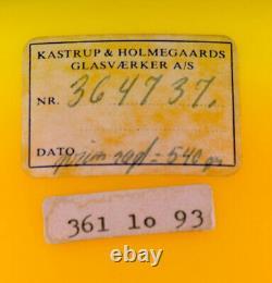 Kastrup / Holmegaard. Une Paire De Grands Bols Dans Le Verre Jaune D'opaline