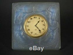 L'horloge De René Lalique Opalescent Glass'naiades