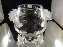 Lalique Cristal Orchidee Vase Orchid Opalescent / Effacer