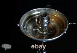 Lampe De Bureau En Verre Art Déco Originale Vintage Des Années 1940 Plaquée Et Lampe De Bureau En Verre De Lait Opaline