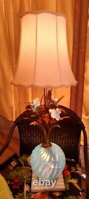 Lampe En Verre D'art Italien Vintage Du Milieu Du Siècle Murano Barovier Seguso Opalescent