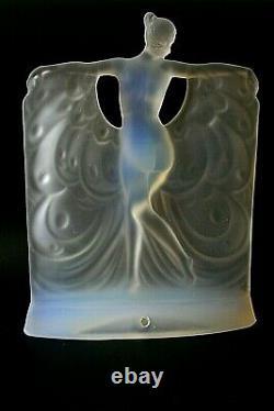 Lampe En Verre Opalescent Art Deco Sabino Suzanne