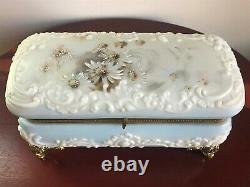 Large Wave Crest Verre Dresser / Vanity Box Casket Ormolu Mounts