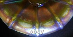 Louis Comfort Tiffany Lct Favrile Opalescent Gold Swirl 5 Porte-chandelier