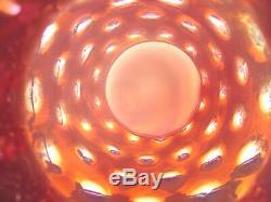 Mint + Prf40sfenton Glassvrarecranberryopalescentcoin Dothuge 2 Hndl9vase