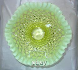 Mint+perfvintage50'sfenton Glassvaselineopalescenthobnail8ftd Bol De Fruits