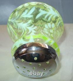 Mintvintage60sfenton Glassscarcevaseline Opalescentdaisy & Fernsugar Shaker