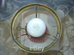 Mintyvintage1950'sfenton Glassstudent Lampcranberry Opalescentspiral Optic