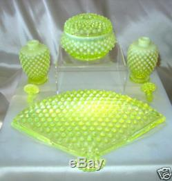 Mntvintagefenton Glasstopazvaselineopalescenthobnailperfume / Poudre / Meuble