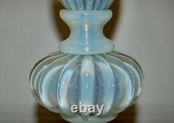 Murano Archimede Seguso White Opalescent Lampes De Table Pour Marbro Wow