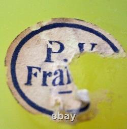 Portieux Vallerysthal Vase À Pieds Jaune Opaline En Verre