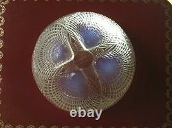 R. Lalique Bowl Coquille Opalescent, 1924 En Bon État, 13 CM Diametre