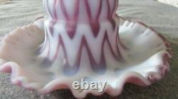 Rare Fenton Raisin Opalescent Sculpté Ice Fée Lampe Limited Edition 2005