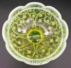 Rare Fenton Topaze Opalescent Muguet Grande Lampe Fée