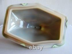 Rare Uranium Bohème Et Verre Opalescent Bijoux / Brinket Box Art Deco 1930s
