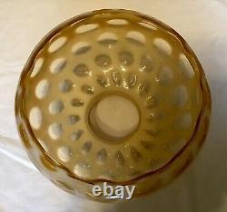 Rare Vintage Fenton Art Glass Honeysuckle Opalescent Coin Dot Lampe N8