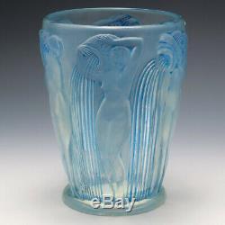 René Lalique Bleuissement Opalescent Danaïdes Vase Marcilhac 972