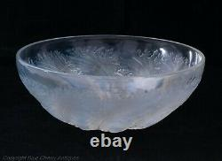 René Lalique Français Opalescent Art Glass Bowl Dans La Conception C1925 Chicorée
