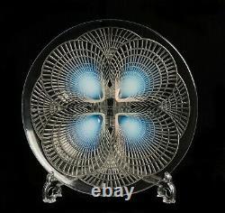 Rene Lalique Glass Coquilles Pattern Opalescent Plate Art Déco C1924 Nr 3011
