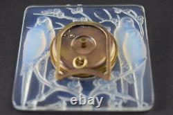 Rene Lalique Opalescent Horloge Inséparables C1926