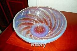 René Lalique Opalescent Poisson Bowl