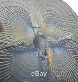 Renee Lalique Coquilles Coquilles Opalines Art Footed Plate C1920, 7,875