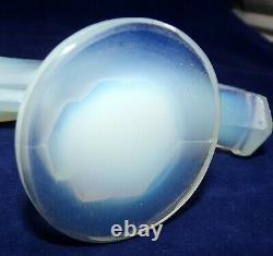 Sabino Glass Art Opalescent Art Déco Leaping Mascot Gazelle 4,25t X 6,25l Nice