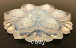 Sabino Verre Opalescent Antique Pendentif Plaque De Plafond De Lumière Forme De Fleur