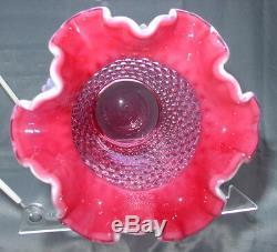 Tmn + Perfvintage40sfenton Glasscranberryopalescenthobnail8vase & 4 $ Ship Sp