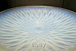 Vaseline Française Antique Opaline En Verre Pressé Art Deco Bowl