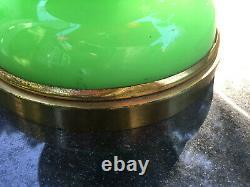 Verre Opaline Vert Français Vintage Avec Étoiles D'or
