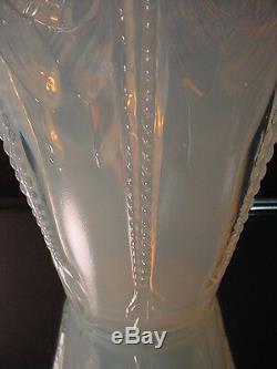 Verre Rare Sabino Art Sculptée Manta Raie Opalescent Vase Art Déco France 1930