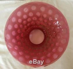 Vintage Fenton Art Glass Cranberry Opalescent Coin Dot 10 Abat-jour