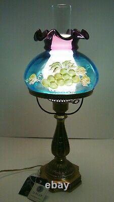 Vintage Fenton Étudiant Étudiant Étudiant Opalescent Grapes Signature Family Signature